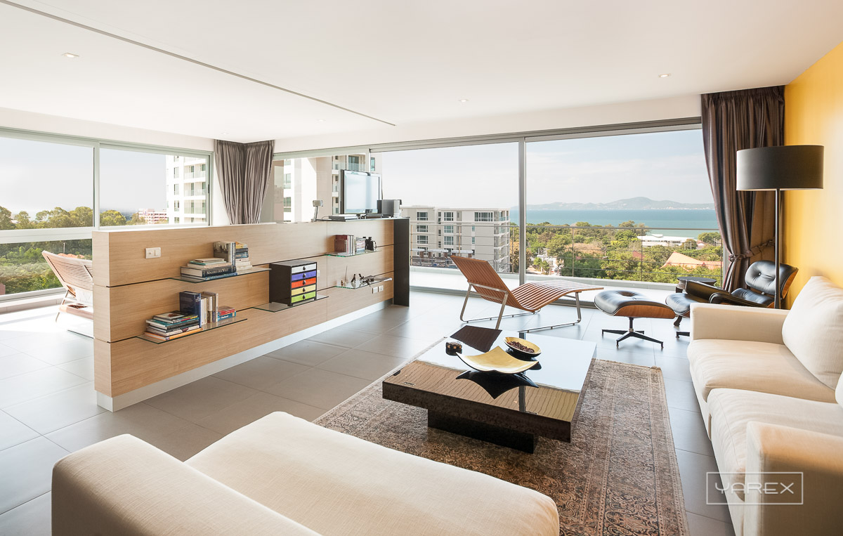 Pattaya Condo overlooking the sea for SCHUCO, Thailand. Photograph: Yarex Photography, Bangkok, Thailand