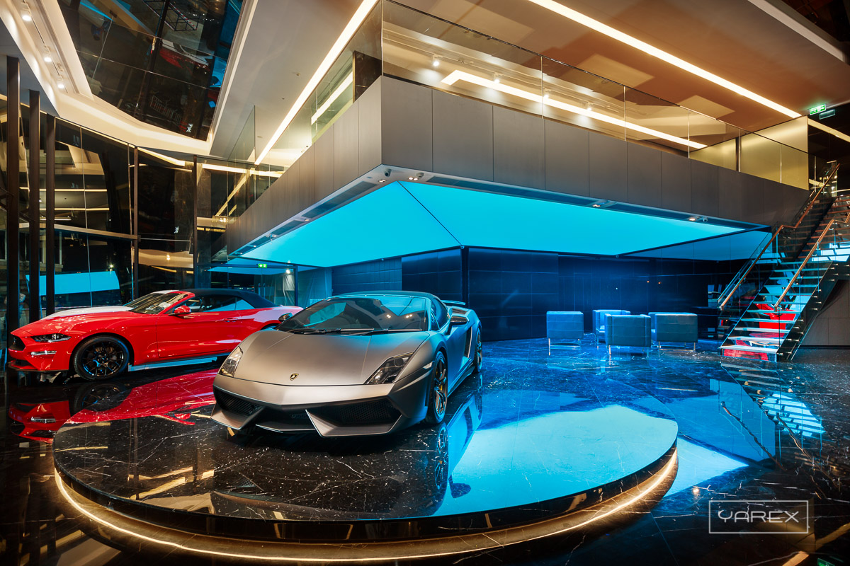 RKK Luxury Car Showroom. Interior photography for Curve, Bangkok, Thailand