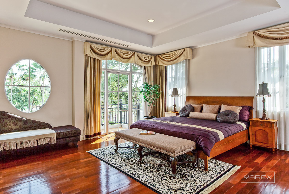 Golden Land luxurious bedroom interior photograph. Photography: Yarex photography, Bangkok, Thailand