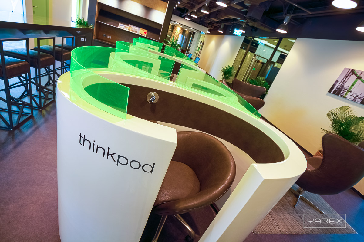 REGUS Thinkpods at Bangkok office. Interior photography: YAREX, Bangkok, Thailand
